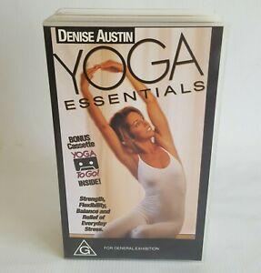 Denise Austin YOGA ESSENTIALS VHS Boxset with Bonus Cassette Fitness Exercise