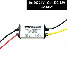 DC 24v to DC 12v Step Down Volts Converter 5A 60W Power Supply Car Truck Adapter
