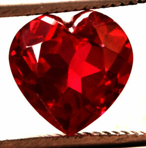 13.35 Cts. Natural Mozambique Red Ruby Heart Cut Certified Gemstone