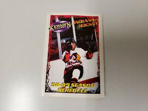 RS20 SOO Kewadin Casino Indians 1998/99 Minor Hockey Pocket Schedule - Sault