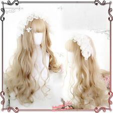 Sweet Lolita Daily Fairy Goddess Curly Gradient  Elegant Japanese Harajuku Wig#1