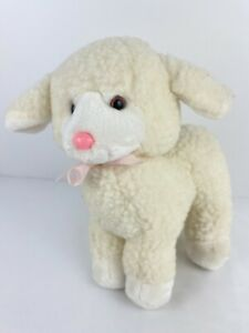 """Mary Meyer White Lamb Plush Stuffed Animal 9"""" Tall Easter Baby Cute Toy Lovey"""