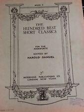 The Hundred Best Short Classics Piano Sheet Music