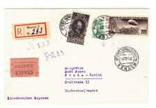 Russia SOVIET-Sc#343(scuff)#422(fault)#C23-MOSCOW 25/6/37-REGISTERED(label)-