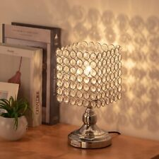 HAITRAL Bedside Table Lamps-Square Crystal Night Lamp...