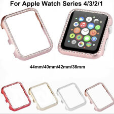 For Apple Watch 38mm/42mm/44mm Diamond Bling Crystal iWatch Cover Bumper Case