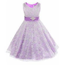 Kid Flower Girl Tutu Dress Lace Party Formal Birthday Princess Wedding Prom Gown