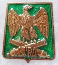 Insigne 24° RA REGIMENT d' ARTILLERIE Sabretache Aigle Empire ORIGINAL G 2920