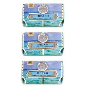 Set /3 Michel Design Works Large 8.7 oz Artisanal Bar Bath Soap Beach Sea Breeze