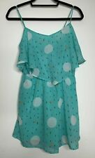 Atmosphere Playsuit Size 10 Blue Green Strappy Floaty Shorts Semi Sheer