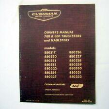 MANUAL - Vintage Owner's Truckster & Haulster -- CUSHMAN