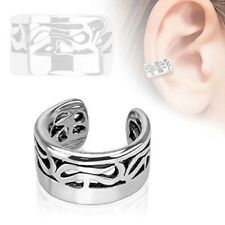 Non Piercing Ear Cuff [Jewelry] Tribal Design Rhodium Plated Brass
