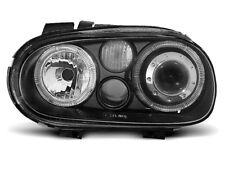 Paire de feux phares VW Golf 4 97-03 angel eyes noir (W70)
