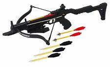 Seeker 80 LB ARCHERY HUNTING Gun BLACK PISTOL CROSSBOW W ARROWS BOLTS XBOW