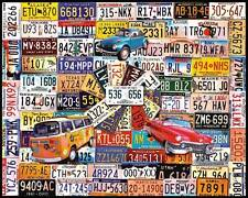 WHITE MOUNTAIN JIGSAW PUZZLE LICENSE PLATES CHARLIE GIRARD 1000 PCS #961