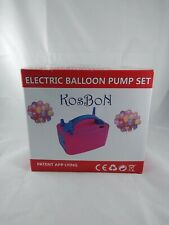Electric Ballon Pump Set Kosbon w/ Balloons Ribbon Happy Birthday Party Kit