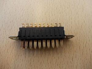Plessey/Jones 19 Way Plug With Panel Mounting Brackets Quad 50E 74/10/1905/10