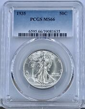 1935 Silver Walking Liberty Half Dollar PCGS MS 66 50C