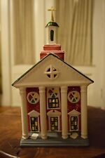 Department 56 Snow Village Colonial Church #51195 Ceramic Christmas Building