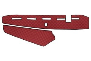 RHD Dashboard Mats Covers Eco Leather for VOLVO 2013+ with senzor Red color
