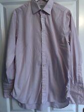 "RS Charles Tyrwhitt Pink Double Cuff Long Sleeved Shirt 15.5"" Neck"