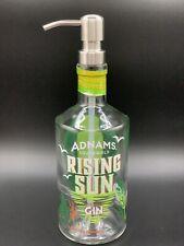 Adnams Rising Sun Gin Bottle Upcycled soap dispenser & Stainless Steel Pump