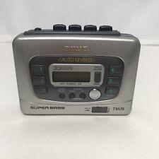 AIWA Portable Walkman Audio Cassette Tape Player AM FM Stereo Radio TX476 VGUC