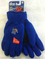 NCAA Memphis Tigers 180's Reebok Winter Fleece Gloves W/ Exhale Heating™ NEW!