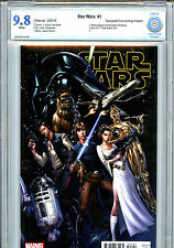 Star Wars #1 (2015) Marvel CBCS 9.8 White Pages Cambell Connecting Variant