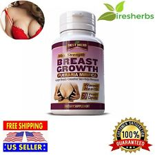 BREAST GROWTH PUERARIA MIRIFICA Larger Breasts Skin Care Helps Menopause 60 Caps