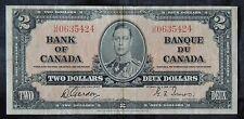 BANK OF CANADA - 1937 $2 Note - Prefix U/B- Signed Gordon & Towers - NCC