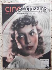 riviste cine magazzino teatro radio cinema mariella lotti italian magazine rare