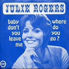 7inch JULIE ROGERS baby don't you leave me HOLLAND EX+ PS RARE DUTCH