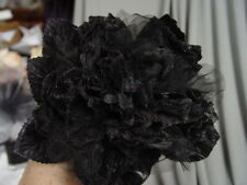 LARGE VELVET and ORGANZA  MILLINERY PEONY ROSE -black