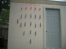 """14 Purple/Black 9"""" squid Splash Spreader Bar w/ 5 Birds, """"Sinking"""""""
