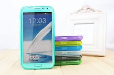 1pc Samsung N7100 NOTE 2 I9500 S4 Flip Over TPU Silicone Case Protector Cover