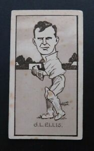 Cigarette Card Sunripe - Caricatures of Famous Cricketers 1926  J. Ellis  Vic.