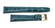 18 mm Original Green Leather Gucci Watch Strap Band 18MM R KD