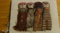 Vintage Peruvian Chancay Burial Cloth Textile Dolls Folk Art Circa 1950 -1960's
