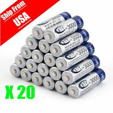 20 pcs X AA BTY Rechargeable Battery 3000mAh Ni-MH 1.2V US Fast Ship OY