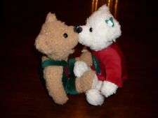 "Hallmark KissingPlush Stuffed WinterSnowflake Bears 10"""