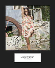 JANA KRAMER #1 Signed 10x8 Mounted Photo Print (REPRINT) - FREE DELIVERY