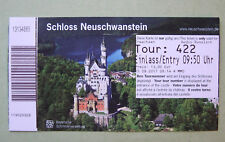 used touristic ticket Schloss Neuschwanstein Germany - for collectors