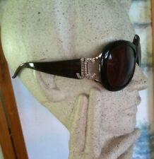 Oversized Brown Plastic JUST CAVALLI JC 151S Sunglasses w. Crystal Rhinestones