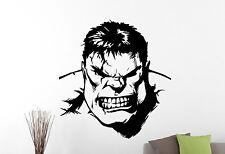 Hulk Wall Sticker Superhero Vinyl Decal Comic Book Art Boys Room Decor 4hlz