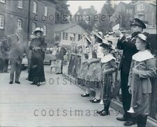 1963 Actress Vanessa Redgrave Greeted by Guildford Band Surrey Press Photo