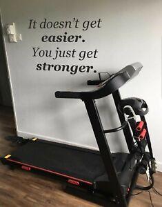 Gym Fitness Quote Wall Art Sticker Gym Home Decor Motivational DIY