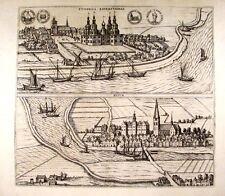 Antique map, Toninga Eiderstadiae / Husum