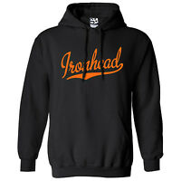 Ironhead Script & Tail HOODIE - Hooded Bobber Chopper Sweatshirt - All Colors