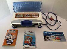 VTech V-motion active learning system + 3 Game Cartridges Dora, Thomas & Friends